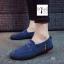 รองเท้าสไตล์ Slip-on วัสดุทำจากยีนส์ฟอกสี มี 3 สี พร้อมส่ง