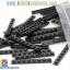 BRI004 ตัวต่ออิสระแผ่นบางสีเดียว ขนาด 1x8 ปุ่ม น้ำหนัก 100 กรัมในถุงพลาสติกใส thumbnail 1
