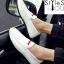 รองเท้าผู้ชายแฟชั่น ดีไซน์สวยเท่ห์ สไตล์ Boat Shoe วัสดุหนัง Puอย่างดี มี 4 สี