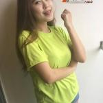 เสื้อเปล่า ผ้า TK : สีเขียวมะนาว