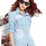 เสื้อยีนส์นำเข้าสไตล์เกาหลี Size M