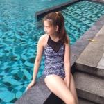 ชุดว่ายน้ำวันพีชซีทรูแต่งอก