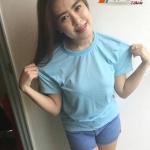 เสื้อเปล่าTK : สีฟ้า คอกลม คอวี