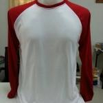 เสื้อเปล่า TK : ขาวแขนยาวแดง