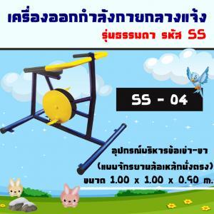 SS-04 อุปกรณ์บริหารข้อเข่า-ขา (แบบจักรยานล้อเหล็กนั่งตรง)
