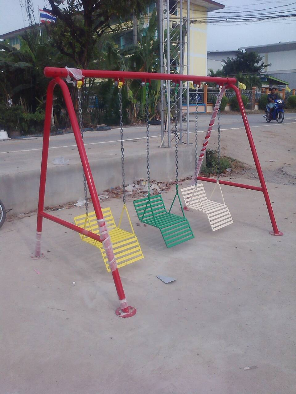 รหัส PG ผลงานติดตั้ง (สุเหร่าแสงประทีป จ.นนทบุรี) เครื่องเล่นสนามกลางแจ้งสำหรับเด็ก