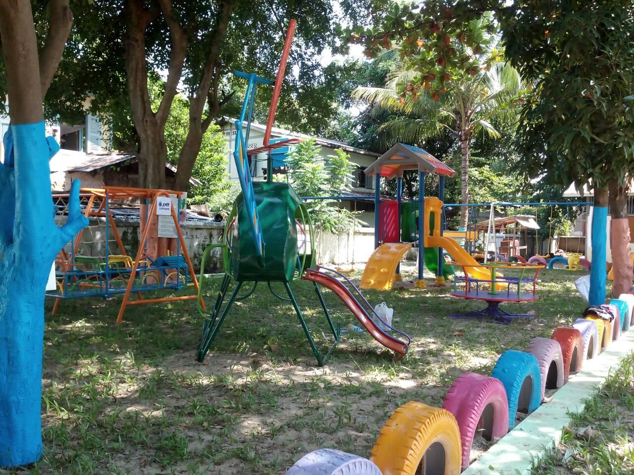 รหัส PG ผลงานติดตั้ง (สมาคมไทย-พม่า เพื่อมิตรภาพ) เครื่องเล่นสนามเด็กอนุบาล