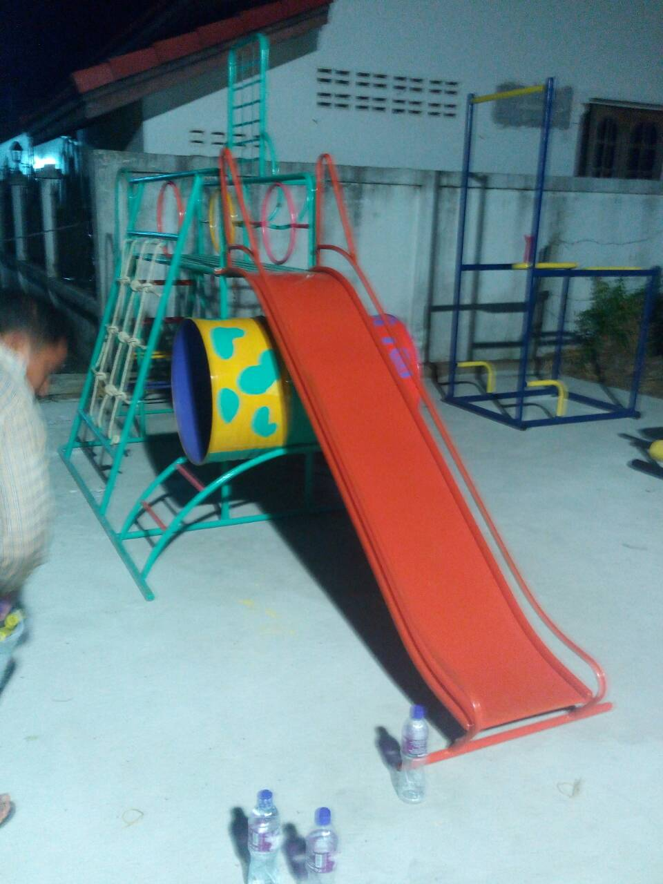 รหัส PG ผลงานติดตั้ง (อำเภอสำนารายณ์ จ.ลพบุรี) เครื่องเล่นสนามกลางแจ้งสำหรับเด็ก