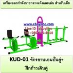 KUD-01 อุปกรณ์ออกกำลังกายและเล่นสำหรับเด็ก (จักรยานเอนปั่นคู่ + ฝึกก้าวเดินคู่)