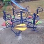รหัส PG ผลงานติดตั้ง (หมู่บ้านนครทอง จ.นนทบุรี) เครื่องเล่นสนามกลางแจ้งสำหรับเด็ก