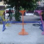 รหัส PG ผลงานติดตั้ง (หมู่บ้านลภาวัล12 จ.นนทบุรี) เครื่องเล่นสนามกลางแจ้งสำหรับเด็ก