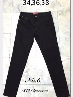"No.6 กางเกงยีนส์ไซส์ใหญ่สีดำแบบเรียบ เอว 34,36, 38"" ซิปหน้า ทรงเดฟสวยค่ะ"