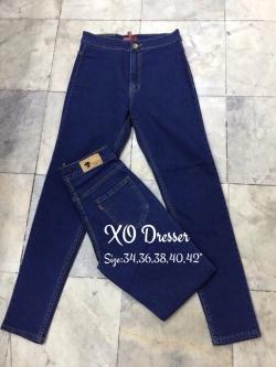 """No.14 กางเกงยีนส์ไซส์ใหญ่สีน้ำเงินเข้มแบบสกินนี่ เอว 34, 36,38,40,42"""" เสื้อผ้าสาวอวบ เสื้อผ้าคนอ้วน"""