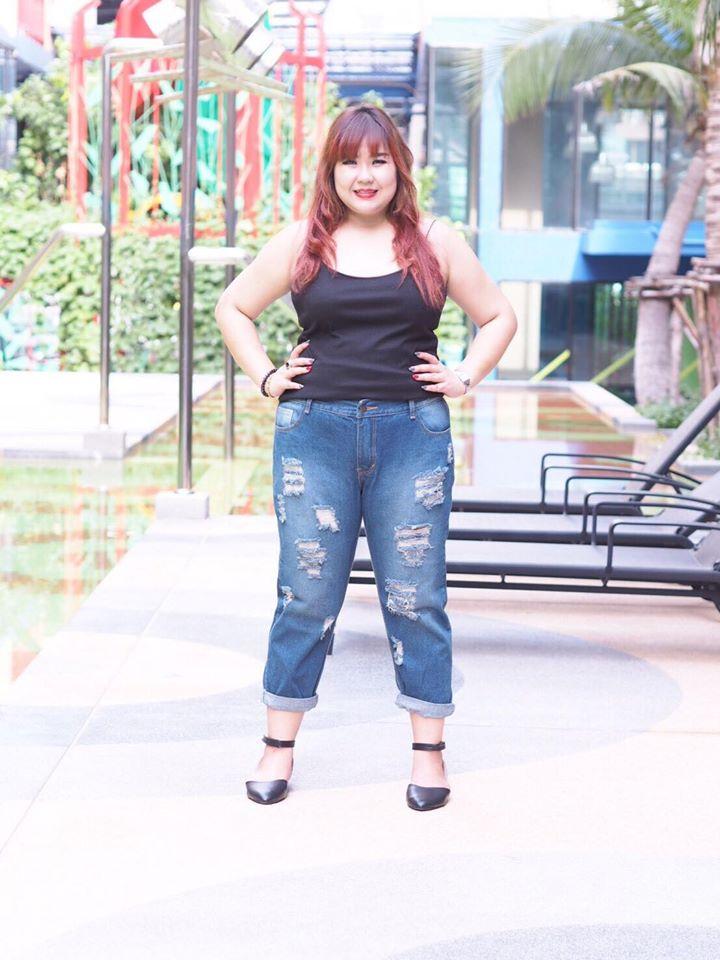 """กางเกงยีนส์ไซส์ใหญ่ เอว 34-42"""" เสื้อผ้าคนอ้วน ทรงสวยมากใส่แล้วดูผอมเลยค่ะ -  เสื้อผ้าคนอ้วน by XO Dresser : Inspired by LnwShop.com"""